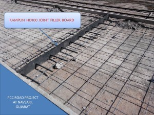 Joint filler boards in PCC, RCC road
